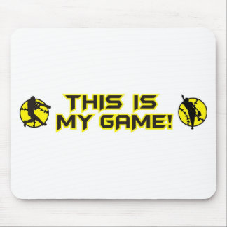 Softball This is my game Mouse Pad