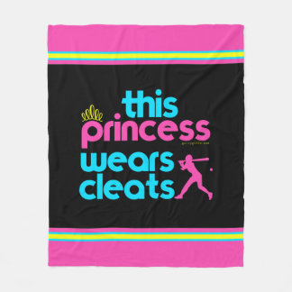 Softball: This Princess Wears Cleats - Golly Girls Fleece Blanket