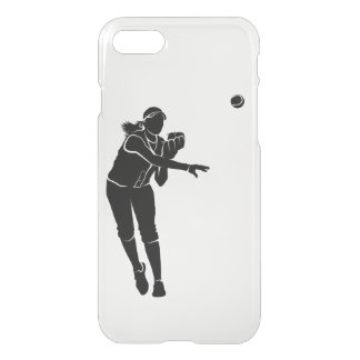 Softball Throw iPhone 8/7 Case