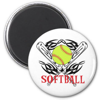 Softball Tribal 6 Cm Round Magnet