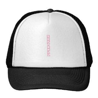 SOFTBALL VERTICAL TRUCKER HAT