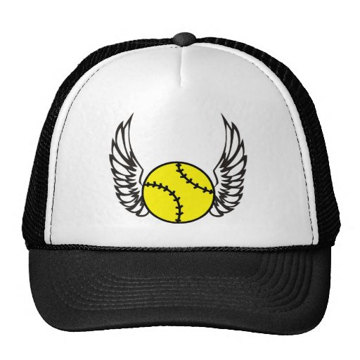 softball Wings Mesh Hat