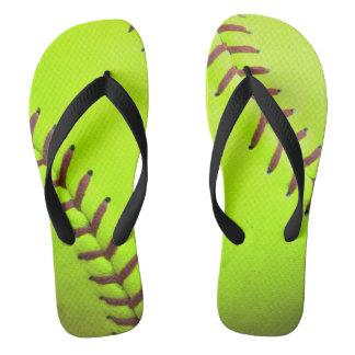 Softball Yellow Fast Pitch 8U 10 Flip Flop Sandals