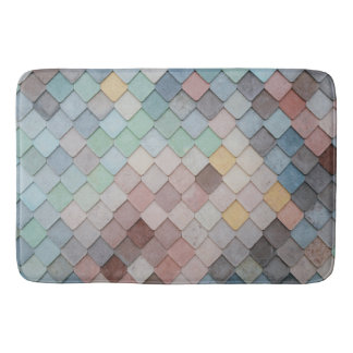 Softly Colourful Tiled Bath Mat to Match Any Decor