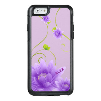 Softly Purple Blossom On Purple Background OtterBox iPhone 6/6s Case