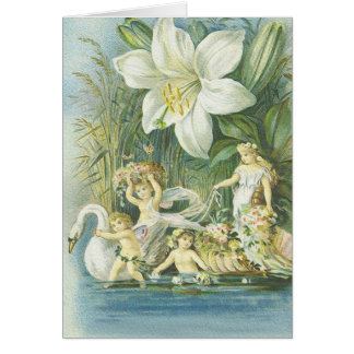 Softness - Fairies, Swan and Flower Card