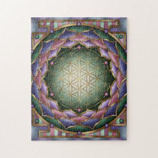 Softness Mandala Print by Rachel C Bemis Puzzle