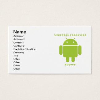 Software Developer Inside (Bug Droid Font Letters) Business Card
