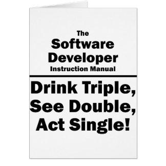 software developer note card