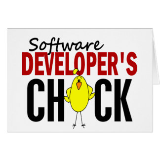 Software Developer s Chick Greeting Cards