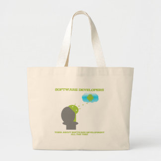 Software Developers Think About Software (Android) Jumbo Tote Bag