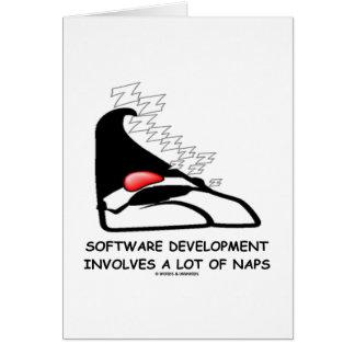 Software Development Involves A Lot Of Naps Card