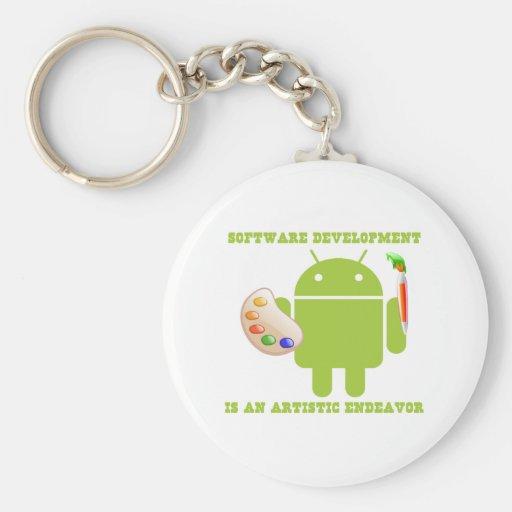 Software Development Is An Artistic Endeavor Key Chains