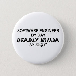 Software Engineer Deadly Ninja 6 Cm Round Badge