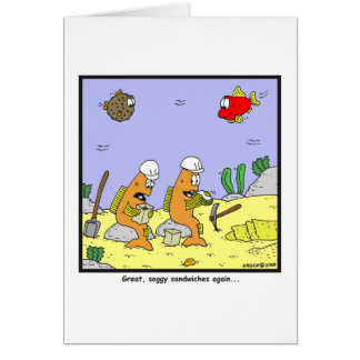 Soggy sandwiches: Fish cartoon Card