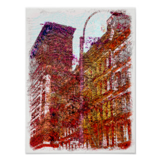Soho, New York City Poster Print