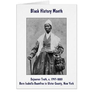Sojourner Truth Card ~ Black History Month