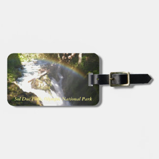 Sol Duc Falls Olympic National Square Tile Luggage Tag