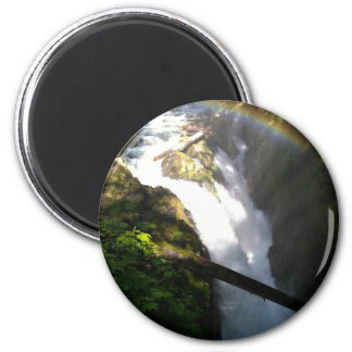 Sol Duc Falls Olympic National Square Tile Magnet
