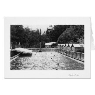 Sol Duc Hot Springs, WA Swimming Pool Photograph Card