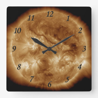 Sol II Square Wall Clock