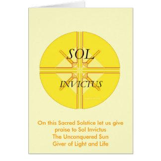 Sol Invictus Greeting Card
