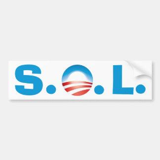 SOL Obama - Tea Party's gonna win Bumper Sticker