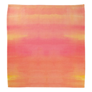 Sol-Yellow and orange ombre watercolor art Bandannas