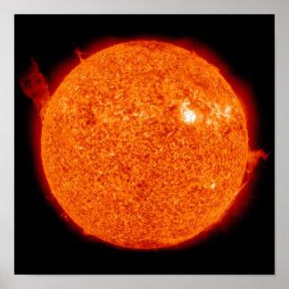 Solar activity on the Sun Poster