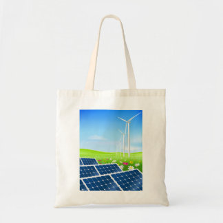 Solar And Wind Power Tote Bag