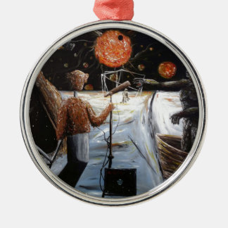 Solar broadcast [Transition - Custom Print! Silver-Colored Round Decoration