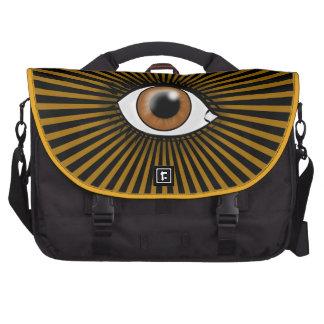 Solar Brown Eye Laptop Shoulder Bag