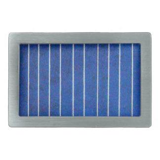 Solar Cell Panel Blue and White Belt Stripe Buckle Belt Buckle