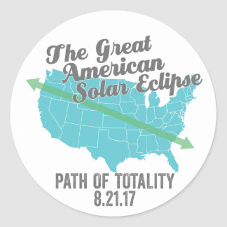 Solar Eclipse 2017 Path of Totality United States Classic Round Sticker