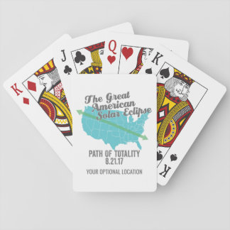 Solar Eclipse 2017 Path of Totality United States Playing Cards