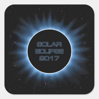 Solar Eclipse 2017 Square Stickers