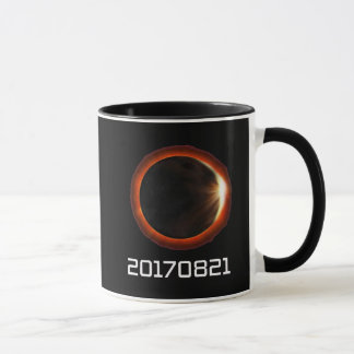 Solar Eclipse 2017 Time Stamp Total Celebration Mug