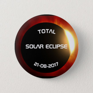 Solar Eclipse 6 Cm Round Badge