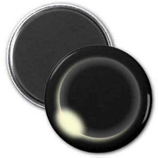 Solar Eclipse 6 Cm Round Magnet