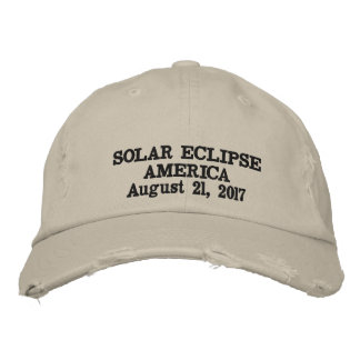 Solar eclipse America August 21, 2017 Embroidered Hat