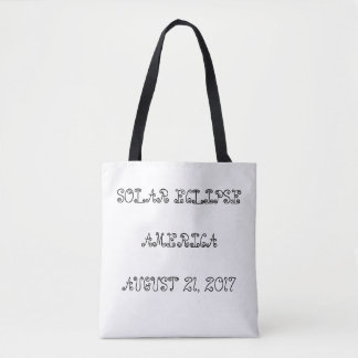 Solar eclipse America August 21, 2017  TWO FONTS Tote Bag
