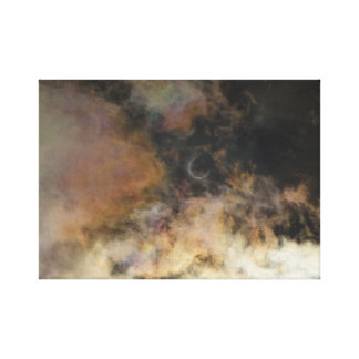 Solar Eclipse and Clouds Canvas Print