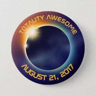 Solar Eclipse | Astronomy 7.5 Cm Round Badge