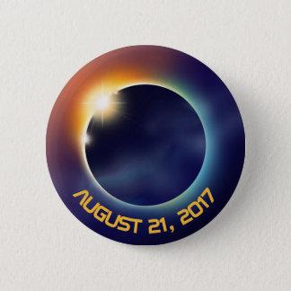 Solar Eclipse | Astronomy | Space 6 Cm Round Badge