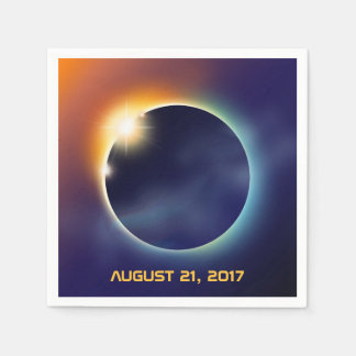 Solar Eclipse   Astronomy Star Party Disposable Napkins