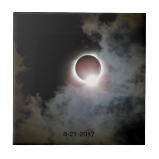 Solar Eclipse August 21st 2017 Ceramic Tile