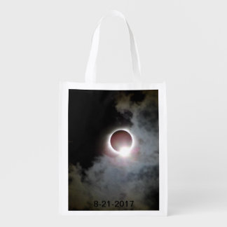 Solar Eclipse August 21st 2017 Reusable Grocery Bag