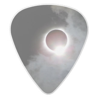 Solar Eclipse August 21st 2017 White Delrin Guitar Pick