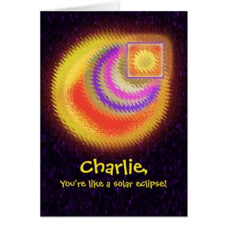 Solar Eclipse Birthday Card