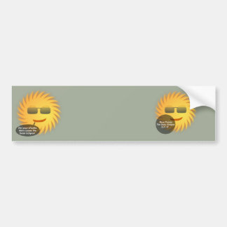 Solar Eclipse Bumper Sticker